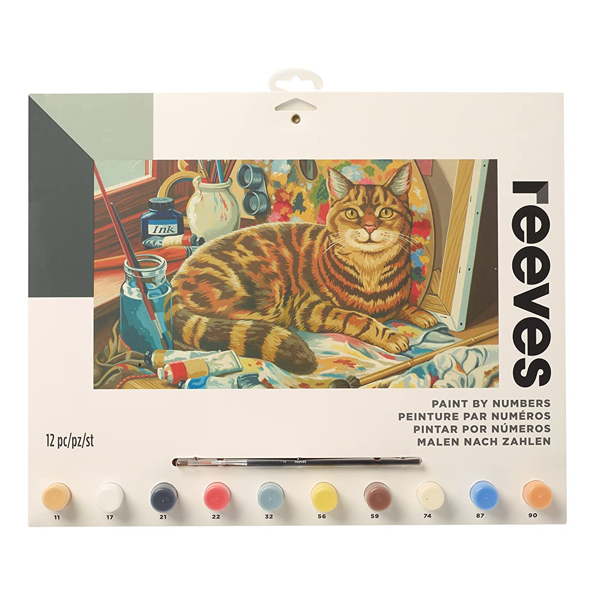 """Reeves Paint by Numbers 12"""" x 16"""" , Resting Cat"""