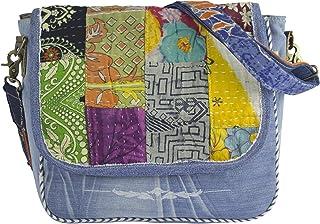 Sunsa Damen Messenger Bag Umhängetasche Handtasche, aus Jeans & Baumwolle. Große Crossbody Tasche Schultertasche, Geschenk...