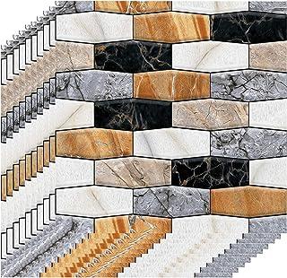 Adaskala 3 Dimension Multicolor Brick Water-resistant Moistureproof Removable Self Adhesive Wallpaper Peel & Stick PVC Wal...