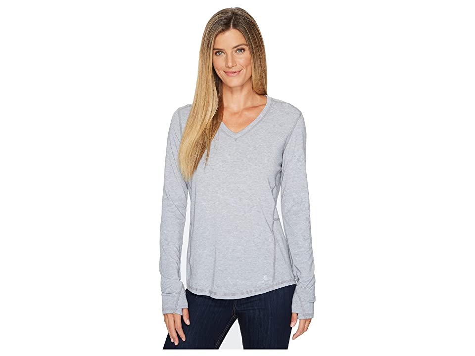 Carhartt Force Ferndale Long Sleeve T-Shirt (Asphalt Heather) Women's Clothing