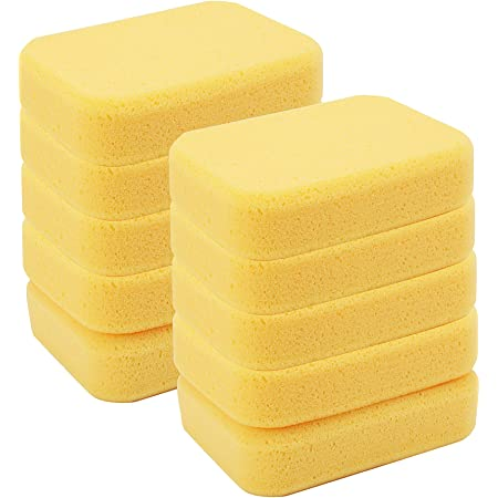 7.5 x 2 x 5 Inches Ideal for Painting Blue Panda Pack of 6 Synthetic Sponges Household Use Orange Large Craft Sponges Pottery Clay Crafts