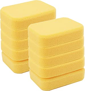 Yesland 10 Pcs Sponges, Perfect Synthetic Sponges for Painting, Crafts, Grout, Cleaning, Pottery, Clay - 7.5 x 5.5 x 2 Inches