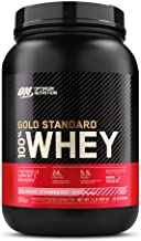 Optimum Nutrition 100% Whey Gold Standard,Delicious Strawberry,2lb (0.9 kg)
