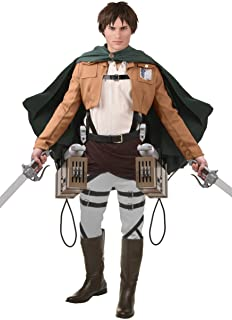 Authentic Eren Jaeger Costume Anime Cosplay Attack on Titan Outfit Mens Costume