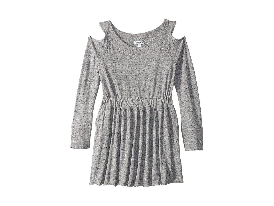 Splendid Littles Cold Shoulder Dress (Little Kids) (Marled Grey) Girl