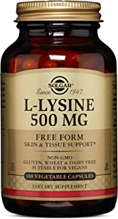 Solgar L-Lysine 500 mg, 100 Vegetable Capsules