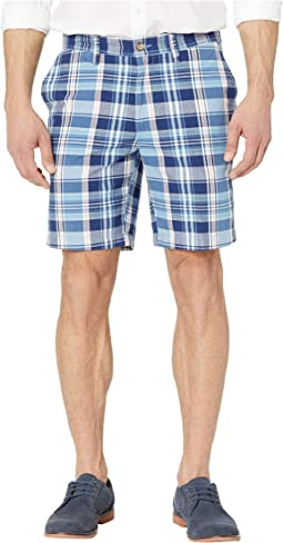"8.5"" Plaid Classic Fit Shorts"