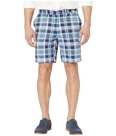 Nautica 8.5 Plaid Classic Fit Shorts (Riviera Blue) Men