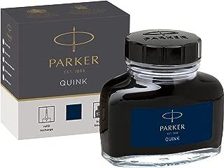 PARKER QUINK Ink Bottle, Blue-Black, 57 ml