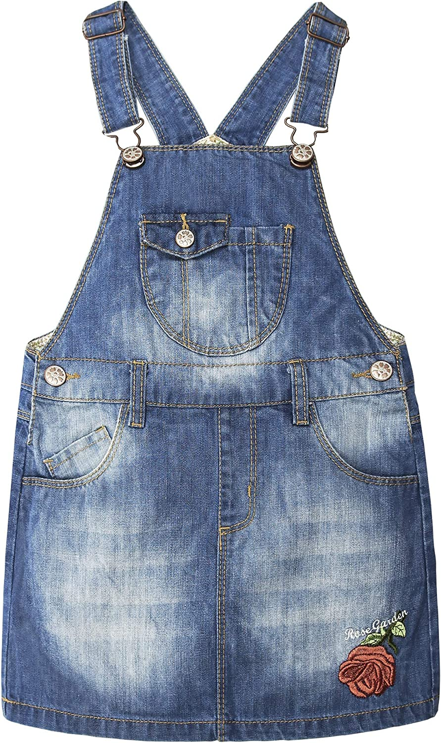 KIDSCOOL New Free Shipping SPACE Baby Max 46% OFF Denim Overalls Little Jumpe Girls Dress Jean