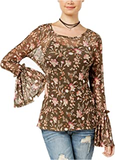Freshman Junior's Printed Bell-Sleeve Top