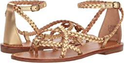 Soludos - Amalfi Braided Metallic Sandal