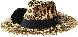 Leopard Print Panama Hat