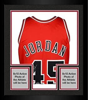 Framed Michael Jordan Chicago Bulls Autographed Red Mitchell & Ness #45 Jersey - Upper Deck - Fanatics Authentic Certified