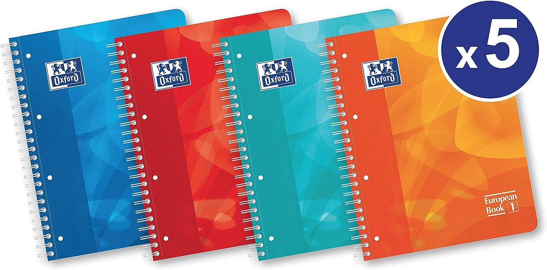 OXFORD 400080695 400080695 400080695 European Book 1 Schule 5er Pack A4 kariert 80 Blatt Schreibblock Notizblock Briefblock Schulblock B01KT435GM | Neues Design  9e5a93