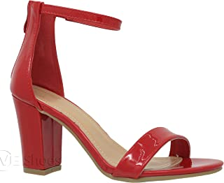 Best red heeled sandals Reviews