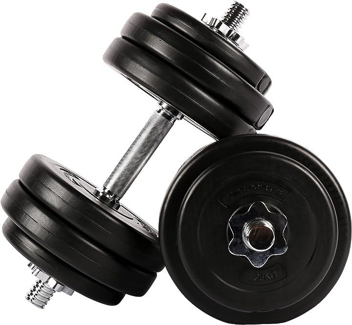 Set di manubri da 20 kg o 30 kg, peso selezionabile msports B08D6SXXTJ