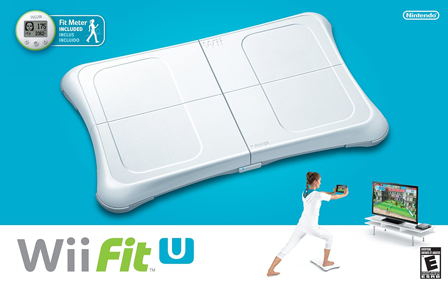 Amazon.com: Wii Fit U w/Wii Balance Board accessory and Fit Meter ...