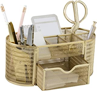 Beautiful Gold Desk Organizer - Made of Metal with Gold...