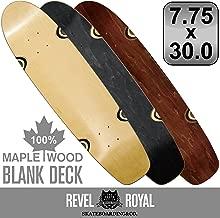 REVEL ROYAL スケートボード エリート クルーザー ブランク 7.75インチ デッキ スケボー 木目 無地 ナチュラル ブラック ブラウン 100% メイプル
