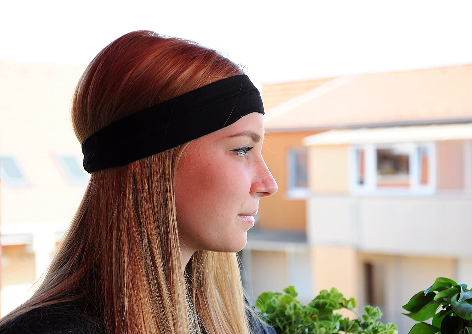 Ultra Lite Travel Headband (Pure Bamboo & Cotton) - Breathable, Lightweight, Quick Dry