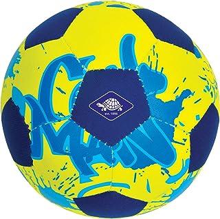 Schildkröt 970277 - Minibalón de fútbol de Neopreno para Playa (Ideal para Manos y pies pequeños, Superficie Textil, Resistente al Agua Salada, tamaño 2, diámetro de 15 cm)