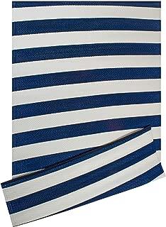 DII CAMZ38835 Stripe Outdoor Rug, 4x6 Navy & White