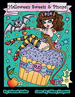 Halloween Sweets and Pinups: Cupcakes, candy, sweets and pinups. Halloween Coloring Book full of Coloring fun!
