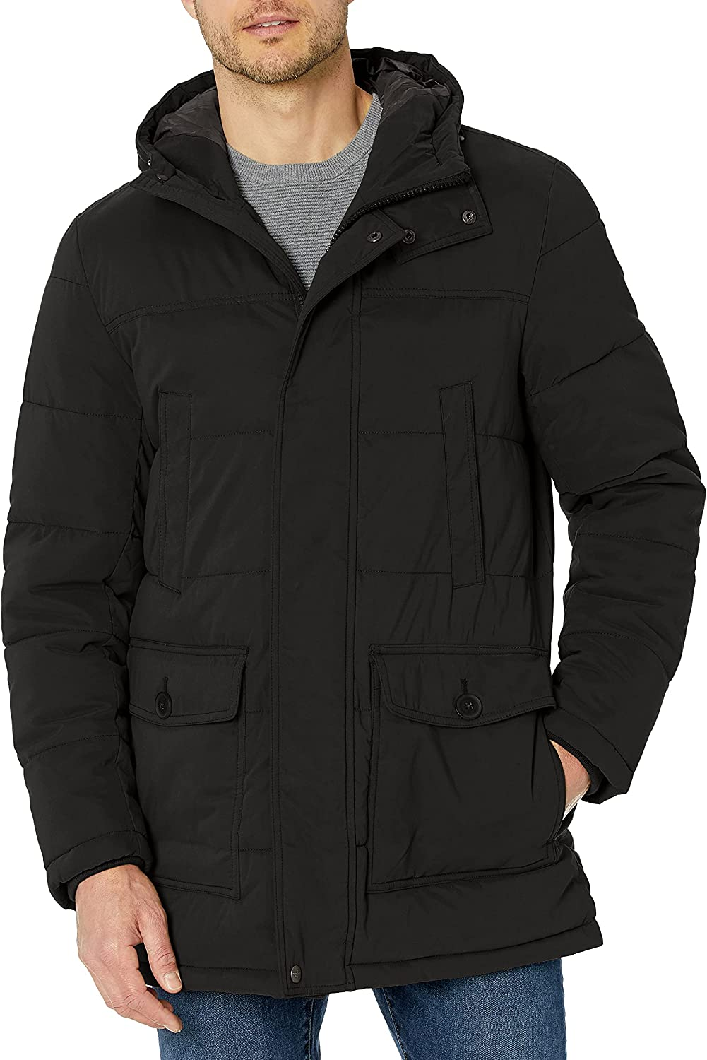 Dockers Men's safety Microtwill Parka Hooded quality assurance Long