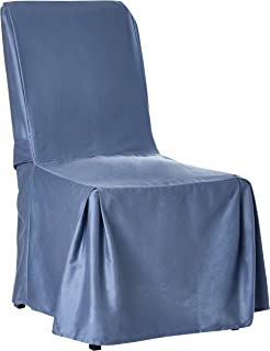 SureFit Duck Solid, Dining Chair, Bluestone