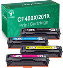 GREENSKY 4 paquetes cartucho de tóner compartible de reemplazo para HP 201X CF400X CF401X CF402X CF403X para HP Color LaserJet Pro MFP M277dw, M277n, M252dw, M252n Impresora