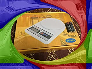 Digital kitchen scales 10 kg payload and the sensitivity of 1 gram