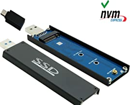 Sintech nVME USB SSD Card,USB 3.0 M.2(NGFF) M Key SSD External Case Box with USB 3.1 Type C Connector(Not Support M.2 SATA SSD)