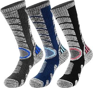 comprar comparacion VBIGER 3 pares Calcetines de Invierno Térmico para Hombre Largo Algodón Calcetines de Deportivos Esquí Senderismo Ciclismo