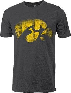 NCAA Iowa Hawkeyes Adult Men Vintage Sheer Short Sleeve Tee X-Large