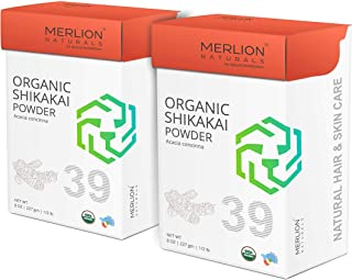 Organic Shikakai Powder by MERLION NATURALS | Acacia Concinna | USDA NOP Certified 100% Organic | Vegan | Excellent Hair Conditioner (16 OZ (2 Pack of 8 OZ))