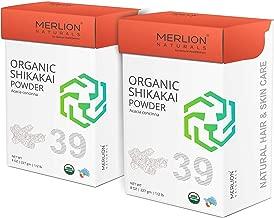 Organic Shikakai Powder by Merlion Naturals   Acacia concinna   454gm/ 16OZ/ 1lb   USDA NOP Certified 100% Organic (2 Pack of 227gm)