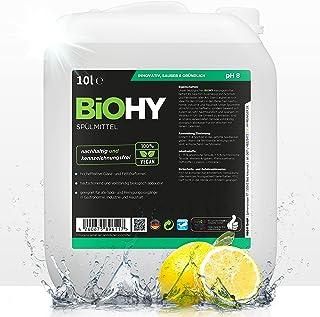 BiOHY Detergent do mycia naczyń (kanister 10l)   Wolne od szkodliwych chemikaliów i biodegradowalne   Formuła nabłyszczają...
