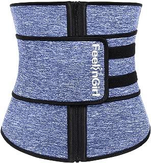 FeelinGirl Women Hot Sweat Neoprene Waist Trainer Corset Trimmer Belt Body Shaper Slimming