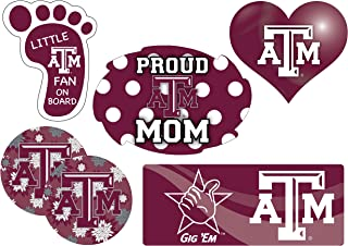 Texas A&M Aggies Proud Mom 6 Piece Decal Set