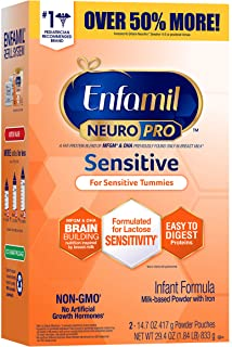 Enfamil NeuroPro Sensitive Baby Formula with MFGM & DHA, 29.4 oz Powder Refill Box - Formulated for Lactose Sensitivity