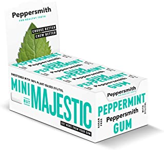 Peppersmith - Chewing Gum - Fine English Peppermint - 15g (Case of 12)