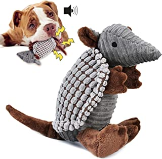 Mumoo Bear Interactive Stuffed Dog Chew Armadillo Toy, Brown, Plush Toy-03