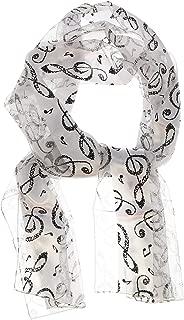 Women's Silky Feel Classic Music Theme Scarf, 12