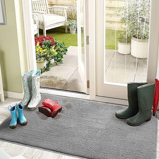 Color&Geometry Schmutzfangmatte 50 x 80 cm Türmatte Fußmatte Schmutzfänger rutschfest, Maschinenwaschbar, Weich, Saugfähiger Teppich für Eingang,…