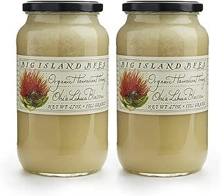 2-Pack of Big Island Bees Ohia Lehua Honey, Organic Raw Hawaiian Honey - (Two Large 47 oz Glass Jars)