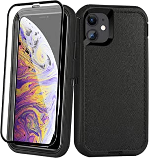 AOPULY Case for iPhone 11 Heavy Duty Full Body Rugged Case with Tempered Glass, Drop Protection Shockproof Durable Cover for iPhone 11 6.1-inch [Black]
