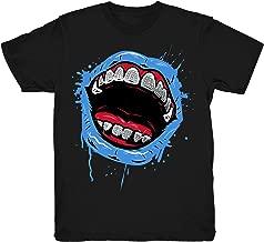 Travis Scott 4 Grillz Drip Shirts Match Jordan 4 Travis Scott Cactus Jack Sneakers Black T-Shirts
