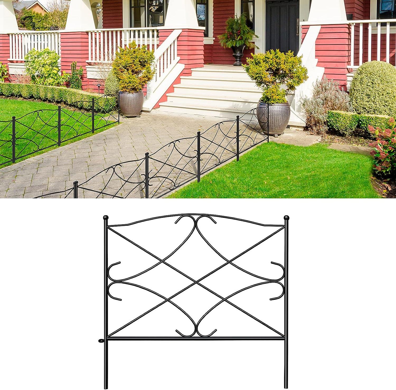 AMAGABELI GARDEN HOME Max 83% OFF Decorative Super intense SALE Garden GFP007 10 24in x Fence