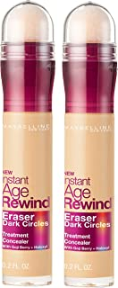 Maybelline Instant Age Rewind Eraser Dark Circles Treatment Multi-Use Concealer, Neutralizer, 0.2 Fl Oz, 2 Count